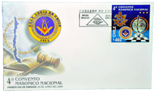 Envelope do 4º Congresso Maçônico Nacional do Chile