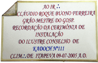 Placa do Kadoch nº 111